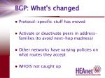 bgp what s changed