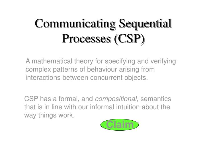 communicating sequential processes csp n.