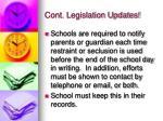 cont legislation updates