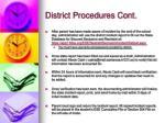 district procedures cont