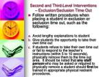 second and third level interventions exclusion seclusion time out