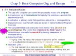 chap 5 basic computer org and design