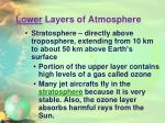 lower layers of atmosphere1