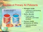 sources of primary air pollutants1