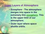 upper layers of atmosphere2