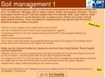 soil management 1