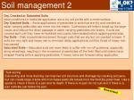 soil management 2