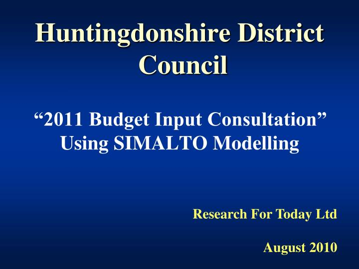 huntingdonshire district council n.