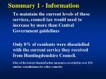 summary 1 information