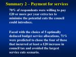 summary 2 payment for services