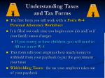 understanding taxes and tax forms