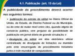 4 1 publica o art 15 da lei