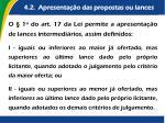4 2 apresenta o das propostas ou lances3