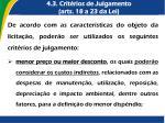 4 3 crit rios de julgamento arts 18 a 23 da lei
