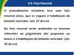 4 5 fase recursal2