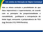 5 4 limites de altera o do objeto contratual1