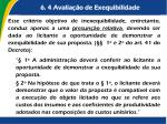 6 4 avalia o de exequibilidade1