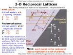 2 d reciprocal lattices