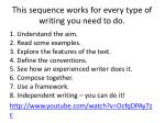 this sequence works for every type of writing you need to do
