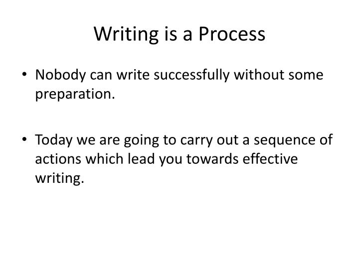 writing is a process n.