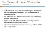the senses of humor perspective neuendorf et al