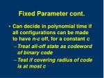 fixed parameter cont
