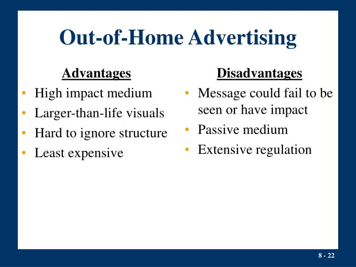 advantages and disadvantages of out of home advertising