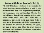 leitura b blica xodo 3 7 12