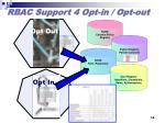 rbac support 4 opt in opt out