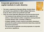 corporate governance and capital markets in latin america