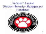 piedmont avenue student behavior management handbook