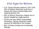 vital signs for reform