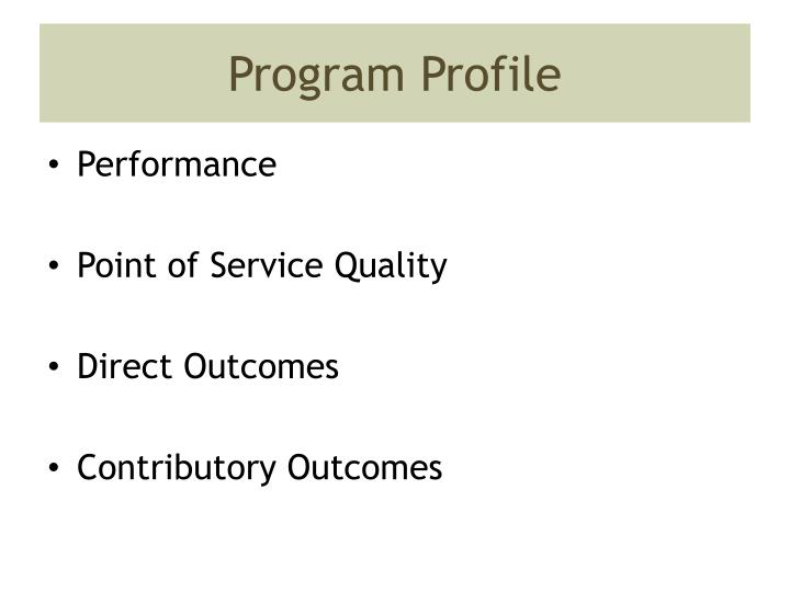 Program Profile