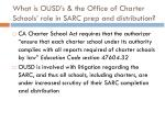 what is ousd s the office of charter schools role in sarc prep and distribution