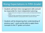 rising expectations in fifth grade1