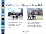 guilford free library town hall