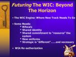 futuring the wic beyond the horizon