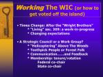 working the wic or how to get voted off the island