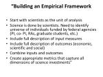 building an empirical framework