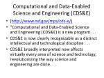 computational and data enabled science and engineering cds e