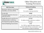 other education and training provisions