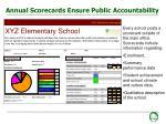 annual scorecards ensure public accountability