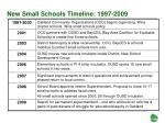 new small schools timeline 1997 2009