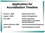 application for accreditation timeline
