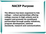 nacep purpose