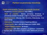 partneri za promociju investicija
