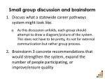 small group discussion and brainstorm