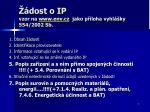 dost o ip vzor na www env cz jako p loha vyhl ky 554 2002 sb