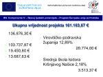ukupna vrijednost projekta 161 163 67