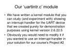 our uartintr c module